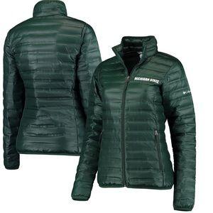 Michigan State MSU Columbia Down Jacket XL green